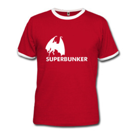 Superbunker t-shirt - red bat
